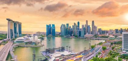 horizonte del centro de singapur foto