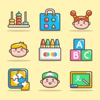 Kindergarten Icon Set vector