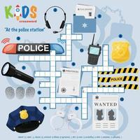 At the police station crossword puzzle vector
