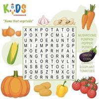 nombre ese crucigrama de búsqueda de palabras vegetal vector