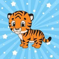 pegatina tigre animal vector