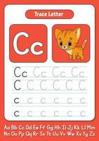 escribir letras c vector