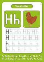 escribiendo letras h vector