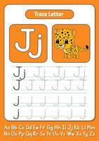 escribir letras j vector