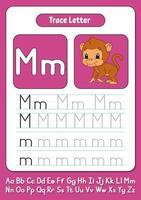 escribiendo letras m vector