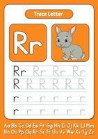 escribiendo letras r vector