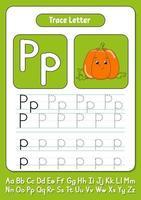 escribiendo letras p vector