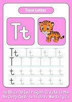 escribiendo letras t vector