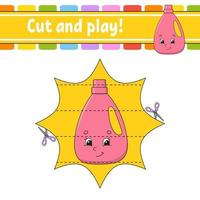 Cut and play game vector