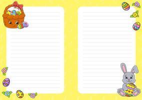 Notepaper for kids vector