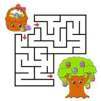Maze for kids to celebrate easter vector