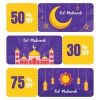 Eid Marketing Tools Voucher vector