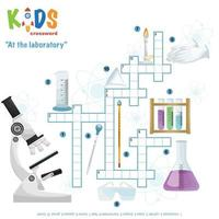 At the laboratory crossword puzzle vector