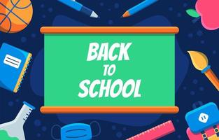 Back To School with Board Background vector