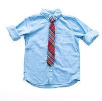 Fashion shirt with neck tie photo