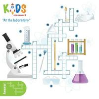 At the laboratory crossword. puzzle vector