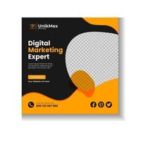 Corporate Social Media Post Design Template vector