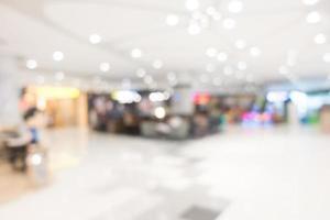 Abstract blur beautiful luxury shopping mall interior photo