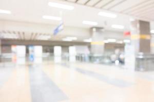 Abstract blur subway station photo