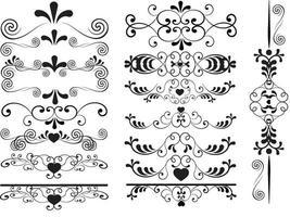 simple arabesque set vector