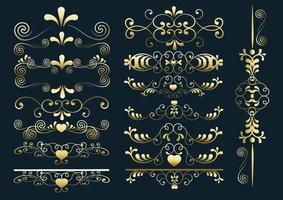 heart arabesque set vector