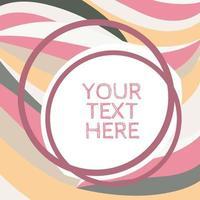 plantilla abstracta rosa pastel y gris vector