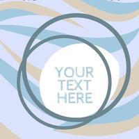 Pastel Blue Retro Wave Circular Template vector