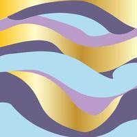 Fondo de banda de color azul pastel y dorado vector