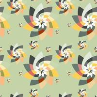 Graphic Floral Scatter Pattern Background Autumn vector