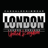 diseño de tipografía de ropa urbana de londres vector