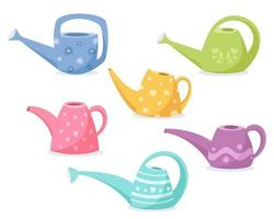 Watering can for flowers. Gardening. Vector illustration