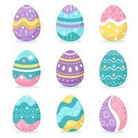 huevos de Pascua. Felices Pascuas. ilustración vectorial vector