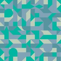 Minimalistic geometric seamless pattern with simple shapes. Abstract Scandinavian background. Blue and green geometry wallpaper. vector