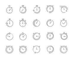 Stop watch symbol, fast time icon, express and urgent services. Editable stroke. vector