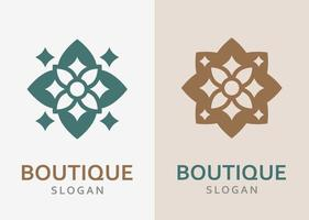 Luxurious monochrome ornate logo in different colors and variety. vector