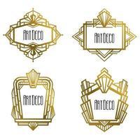 Set of luxury art deco frames. vector