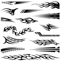 vinilos y calcas vectoriales. gráficos de vehículos. vector