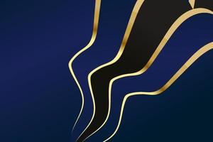 Abstract polygonal pattern luxury dark blue with gold vector