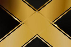 Abstract polygonal pattern luxury with gold vector