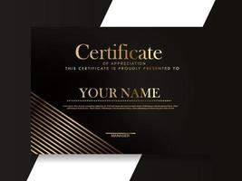 Certificate of Appreciation template.Trendy geometric design. vector