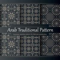luxury Flat design linear arabic pattern collection vector