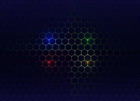 hexagonal pattern in gradient color vector