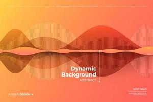 Colorful dynamic abstract background vector