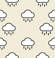 Rainy Cloud Sign and Symbol Seamless Pattern vector