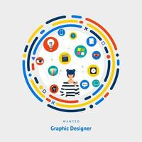 Graphic design skills wanted vector