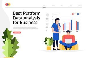 Data Analysis Website vector