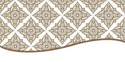 fondo tradicional de tela de línea tailandesa vector
