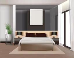 Modern kitchen interior background template vector