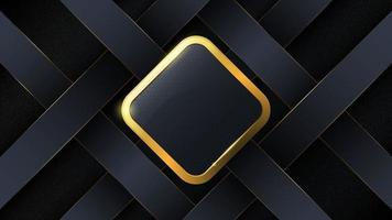 Luxury abstract background with gold trim. vector