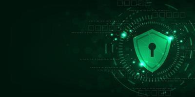 Fondo de tecnología vectorial en el concepto de sistemas de seguridad. vector